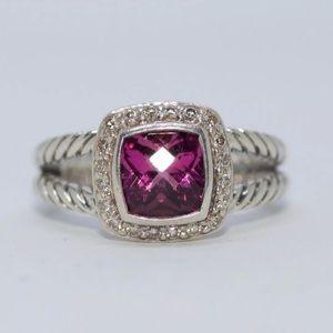 David Yurman .925 diamond and topaz ring size 6.75